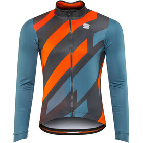 Sportful Volt Thermal LS Jersey Herren blue stellar/anthracite/red fluo